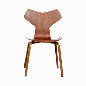 Silla de comedor 3130 de teca de Arne Jacobsen para Fritz Hansen, años 60