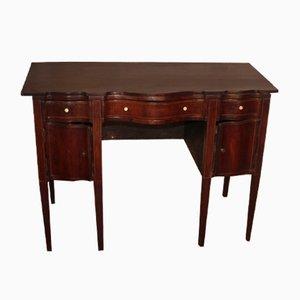 Antiker Schreibtisch aus Mahagoni mit geschwungener Front