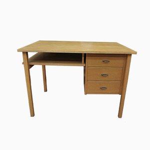Oak Veneer Bureau Desk, 1950s