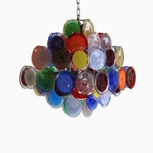 Lampadario colorato in vetro di Murano di Vistosi, 1988