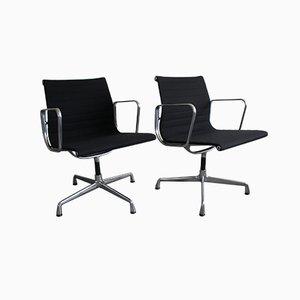 EA 108 Drehstuhl aus Aluminium & Leinen von Charles & Ray Eames für Vitra, 2000er