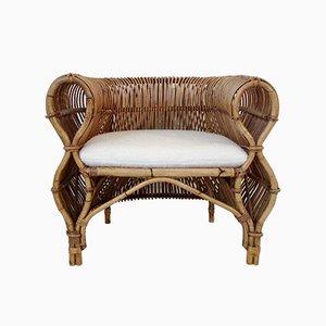 Italienischer Armlehnstuhl aus Bambus von Vittorio Bonacina, 1960er