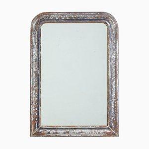 Espejo plateado con marco dorado, años 20