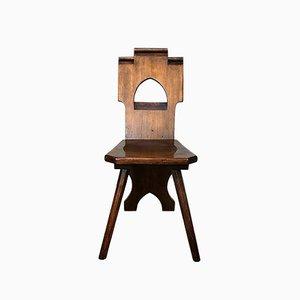Rustikaler deutscher Vintage Stuhl
