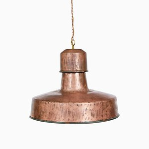 Art Deco Industrial Copper Ceiling Light, 1920s