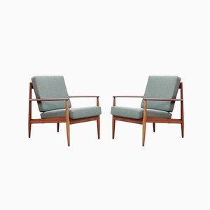 Modell 118 Armlehnstühle mit Gestell aus Teak von Grete Jalk für France & Søn / France & Daverkosen, 1950er, 2er Set