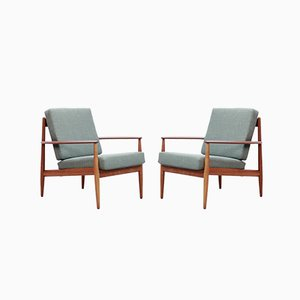 Teak Model 118 Armchairs by Grete Jalk for France & Søn / France & Daverkosen, 1950s, Set of 2