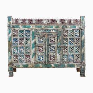 Mobiletto intagliato in legno massiccio, Nepal, XVIII secolo