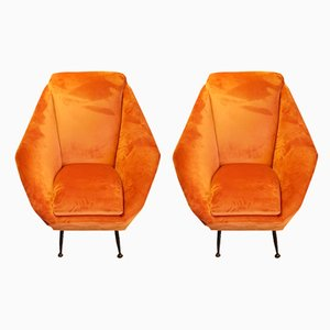 Lounge Chairs by Aldo Morbelli for I.S.A., 1950s, Set of 2