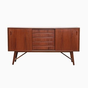 Danish Teak and Teak Veneer Sideboard, 1960s