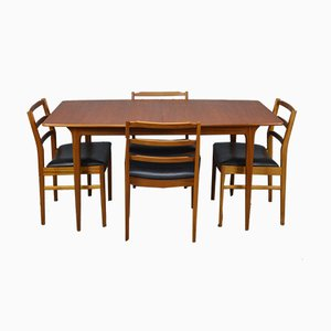 Teak Dining Table & Chairs Set from McIntosh, 1960s, Set of 5