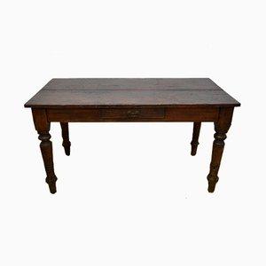 Mesa de comedor italiana antigua de álamo