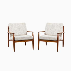 Armchairs by Grete Jalk for France & Søn / France & Daverkosen, 1960s, Set of 2