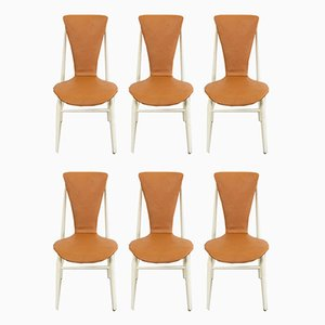 Floating Seat Dining Chairs, 1960s, Set of 6