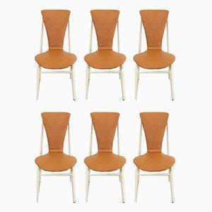 Schwebende Esszimmerstühle von Inger Klingenberg für Fristho, 1960er, 6er Set