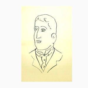 Lithographie Portrait Guillaume Apollinaire par Henri Matisse, 1952