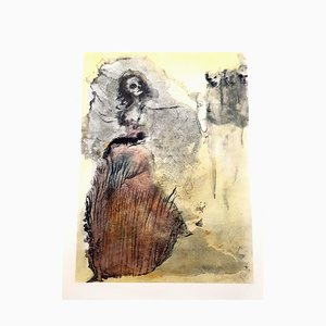 Lithographie Walking Dead par Leonor Fini, 1964