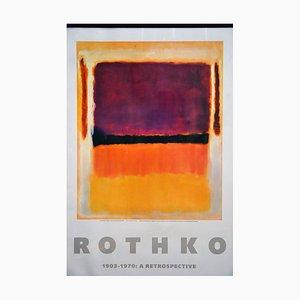 Póster de museo Rothko retrospectivo, 1978