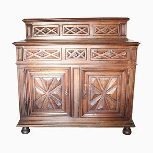 Antique Carved Walnut Sideboard, 1680s