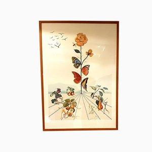 Litografía Flordali II de Salvador Dali, 1981