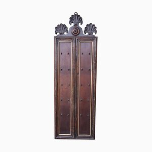 Vintage Carved Walnut Key Hanger, 1920s