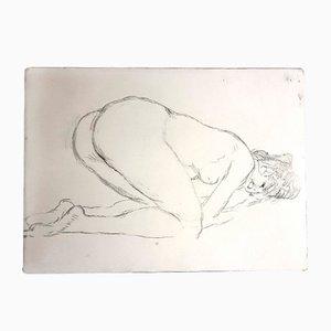 Vintage Woman Radierung von Jean Gabriel Domergue