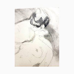 Vintage Womens Love Etching by Jean Gabriel Domergue