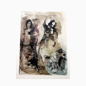 Vintage Disagreement Lithograph by Leonor Fini