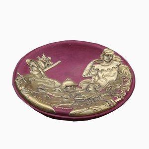 Plato decorativo de cerámica de Finzi, años 60