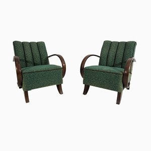 Art Deco Style Armchairs by Jindřich Halabala, 1950s, Set of 2