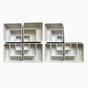 Estanterías modulares de plástico de Prisunic, años 70