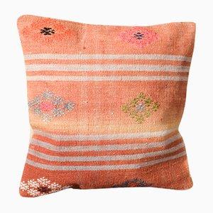 Federa Kilim floreale in lana arancione di Zencef Contemporary