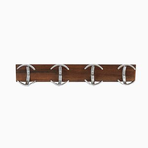 Mid-Century Wood and Metal Coat Rack