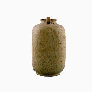 Vintage Keramikvase von Arne Bang, 1930er