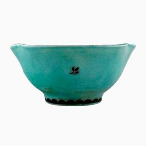 Ceramic Argenta Bowl by Wilhelm Kåge for Gustavsberg, 1940s
