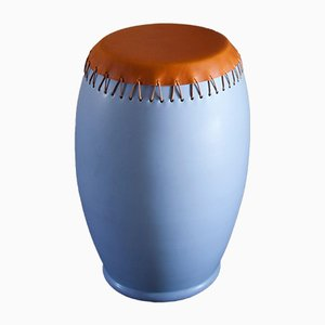 Tavolino Bombo in pelle di Nestor Perkal