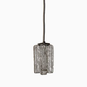 Glass and Chrome Pendant Lamp from J.T. Kalmar, 1960s