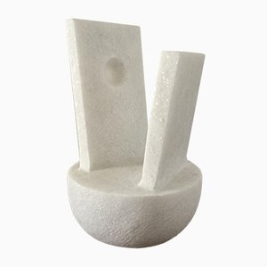 Naxian Marble Abstraction Shelf Sculpture by Tom Von Kaenel