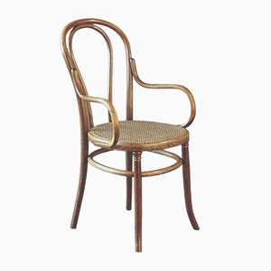 Antique Cane Armchair from Fischel