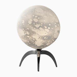 Gemeißelte Tischlampe in Mond-Optik von Ludovic Clément D'armont