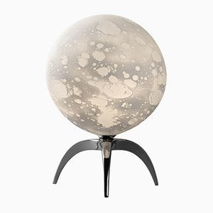 Moon Sculpted Table Lamp by Ludovic Clément D'armont