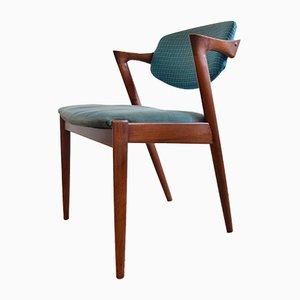 Chaise de Salon Modèle 42 Mid-Century en Teck par Kai Kristiansen pour Schou Andersen, années 60