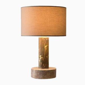Gemeißelte Tischlampe aus Marmor von Brajak Vitberg