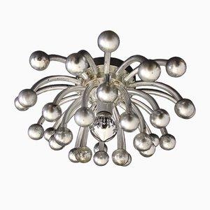 Silberne Pistillino Wand- oder Deckenlampe von Studio Tetrarch für Valenti Luce, 1970er