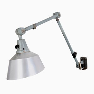 Lámpara de pared industrial Mid-Century de Curt Fischer para Midgard / Industriewerke Auma, años 60
