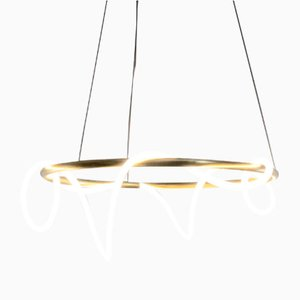 Sculptural Brass Shiva Pendant Lamp by Morghen Studio