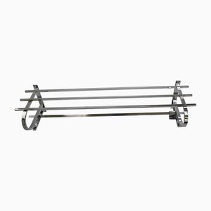 French Chromed Metal Coat Rack, 1920s