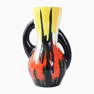 Jarrón francés vintage de cerámica, años 50