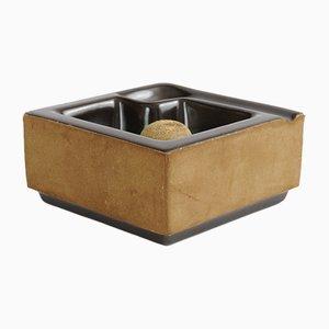 Brauner Aschenbecher aus Keramik von SC3, 1970er