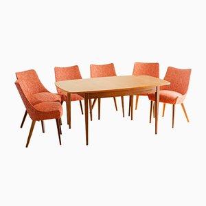 Esstisch & Stühle Set von Ib Kofod Larsen für G-Plan, 1950er, 7er Set